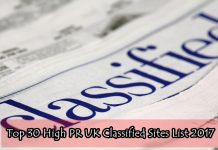 Top 30 High PR UK Classified Sites List 2017