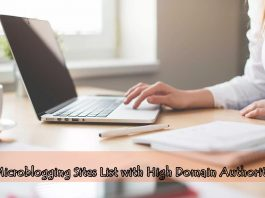 Microblogging Sites List with High Domain Authority
