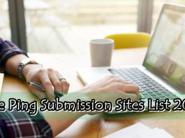 Free Ping Submission Sites List 2017