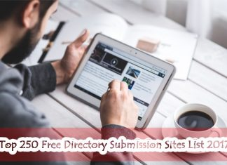Top 250 Free Directory Submission Sites List 2017