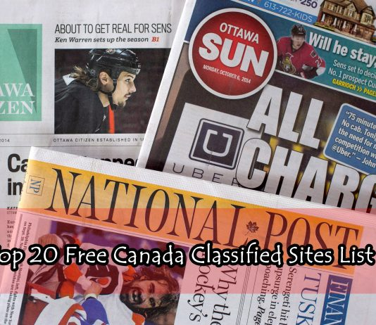 Top 20 Free Canada Classified Sites List 2017