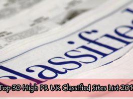 Top 30 High PR UK Classified Sites List 2017