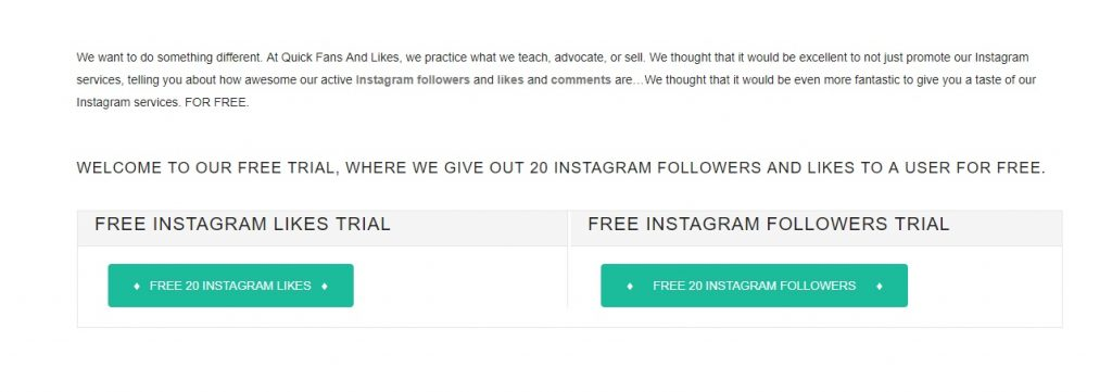Free Instagram Followers and Likes Trial Sites - 20, 30, 50, 100