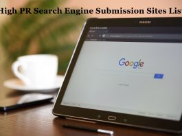 High PR Search Engine Submission Sites List