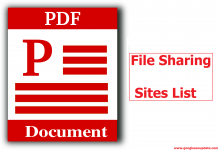 PDF Document File Sharing Sites List
