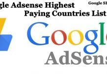 Google Adsense Highest Paying Countries List 2018