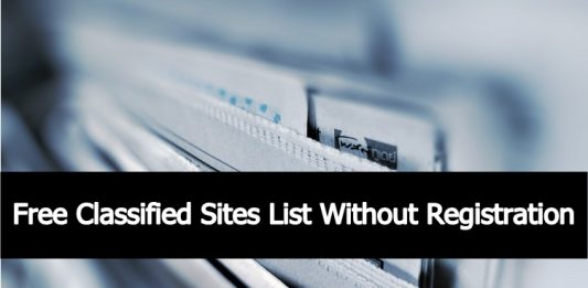 Free Classified Sites List Without Registration