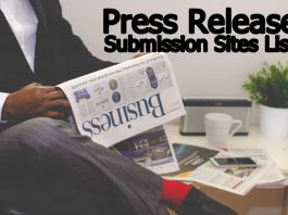 Press Release Submission Sites List